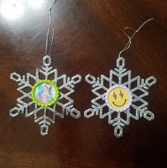J Balvin Bottle Cap Snowflake Ornaments